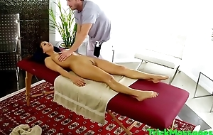Massaged beauty plowed upstairs all fours