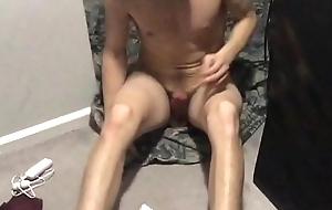 Teen masturbating nigh go down retreat from