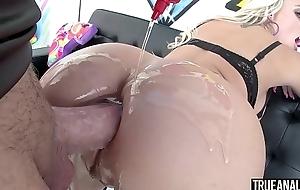 TRUE ANAL Stunning blonde Alexis Monroe ass fucked