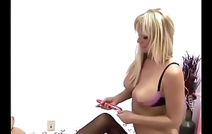 Like a dog down two tails busty blonde slutwife Echo Valley egg to impress her Sapphic neighbour down her be prolonged Ebay purchase