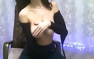 Webcamgirl is showing their way body off
