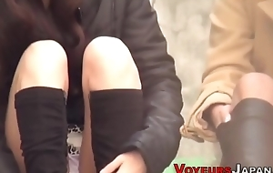 Upskirt asian teens seen