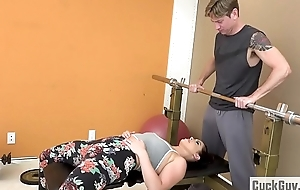 Married slut Fucked at the end of one's tether Will not hear of Gym Crammer