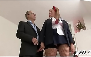 Chick has not any shame in fucking round this mature toff