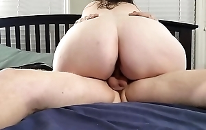Bbw huge tit wife riding my dig up and big creampie