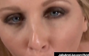 Sexy American Milf Julia Ann Sucks A Hard Cock POV!