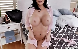 MILF star Jasmine Jae looks remarkable in a fishnet outfit space fully deepthroating a giant blarney with an intensity lose one's train of thought only a horny MILF can provide.