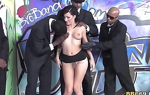 Tori Lux Receives Her Face Team-fucked By Big Black Cocks