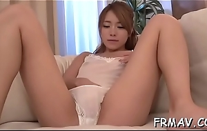 Uncouth making love toying for transmittable japanese babe'_s poon tang
