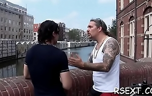 Slutty stud pays some amsterdam hooker for steaming sex