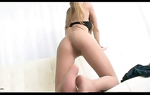 Russian Yearn Legged Tow-haired Teasing On every side Tan Pantyhose - Nyloncams