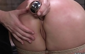Mr Big babe brutally anal toyed together with banged