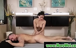 Asian masseuse gets will not hear of hairy pussy licked - Marcus London &amp_ Ember Cat's-paw