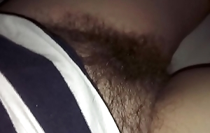 Sleeping wife'_s hairy pussy up put to rights