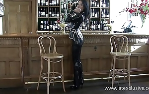 Latexclusive: Sarah on every side Glowering Latex Suit
