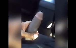 Uber Driver playin with my Dick