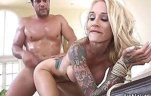 Busty alt blonde sold to inexact trafficer