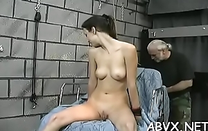 Bbw chick keen stimulation in complete bondage scenes