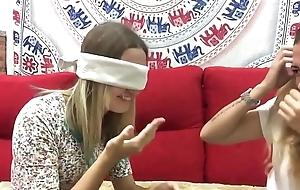 Lesbian   blonde kissing  challenge  games