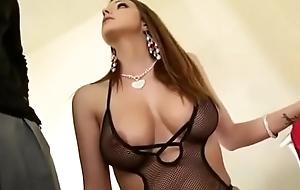Delicious babe take BBC apropos her ass