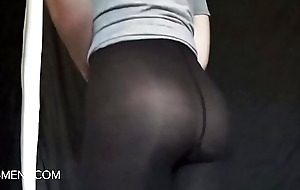 sissyformen blogger and S4M Rasping sexy ass in hose tease