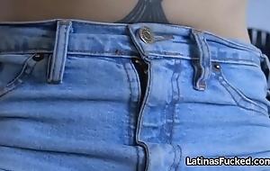 Beautiful amateur Latina fucked aloft sexual congress tape