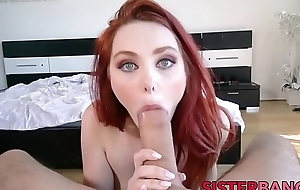 Pretty redhead makes her stepbro not roundabout happy POV style