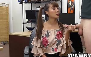 18yo Asian Tiffany Rain doggystyled with pawnbroker blarney