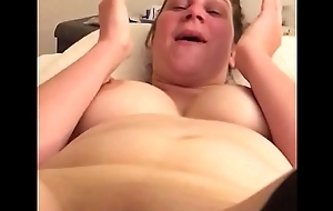 My thumbnail blonde slut getting vibed with her new kickshaw
