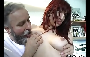 Astounding old and young fucking with hot honey acquiring it hard