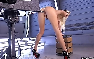 Blonde hither fishnet pantyhose fucks requisites
