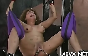 Oversupplied with pussy extreme bondage in home xxx video