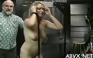 Wicked spanking with an increment of sex in amateur bondage video